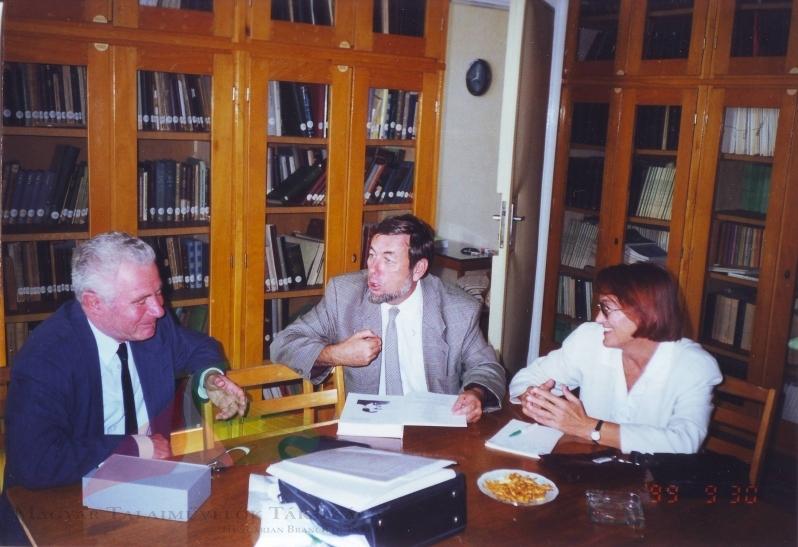 Professor Imre Molnár from Újvidéki in Gödöllőn, 1999