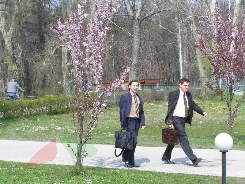 László Nagy and Csaba Gyurica at Óvár